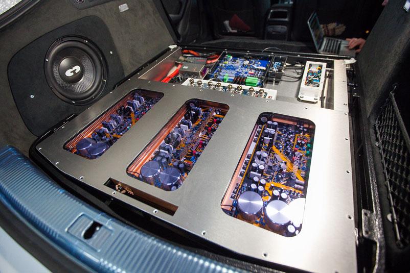 Ауди А5 Sportback. Шумоизоляция и установка процессорной автозвуковой системы.